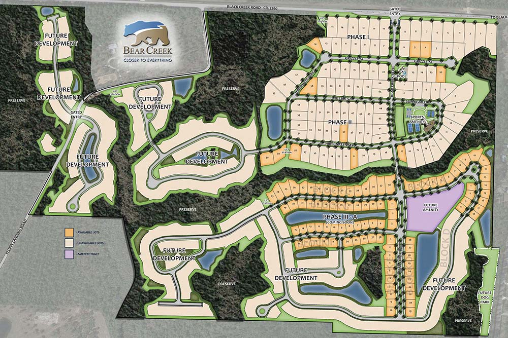 Bear Creek Illustrative Site Plans