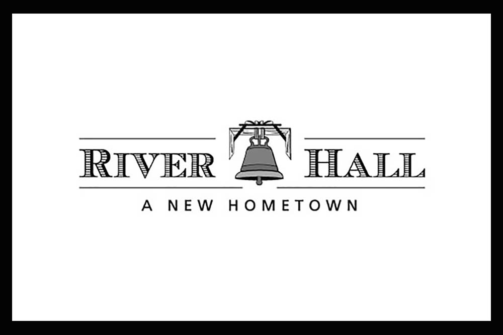 Copy of River Hall logo Black and White