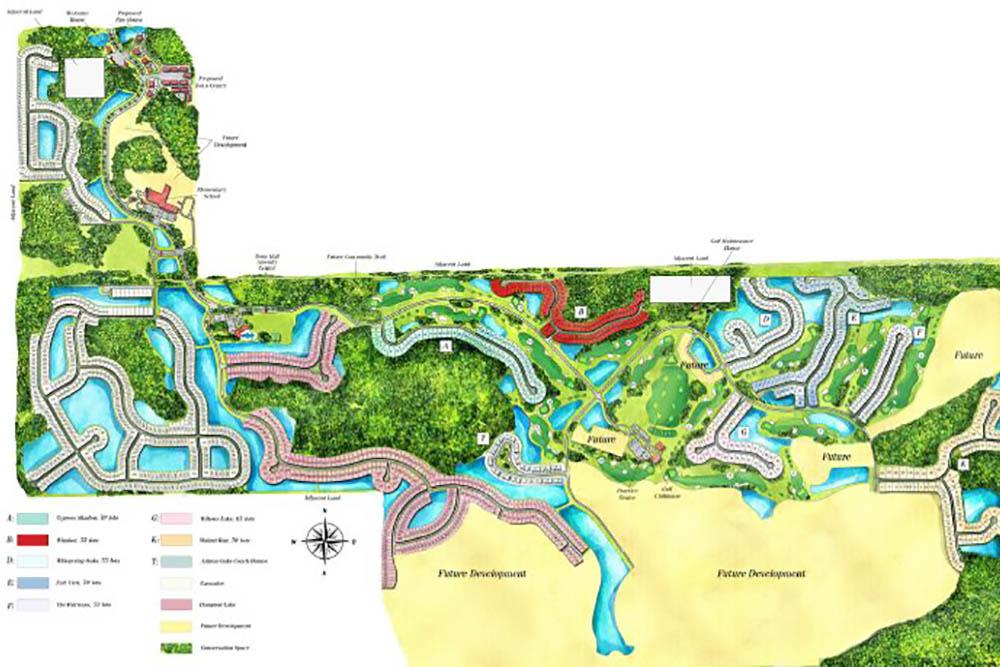 River Hall site plan